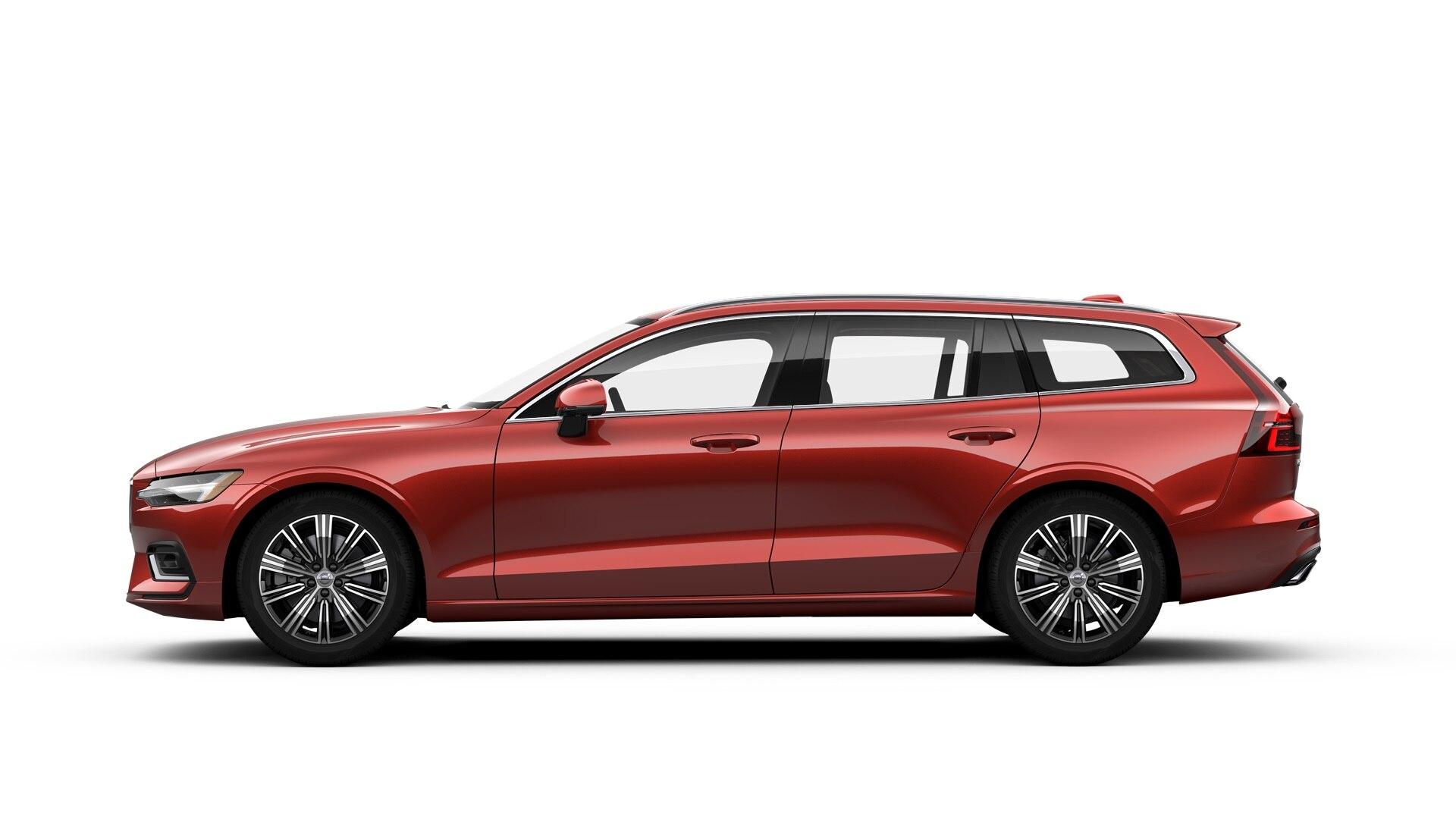 Volvo V60 2019 Rouge fusion métallisé